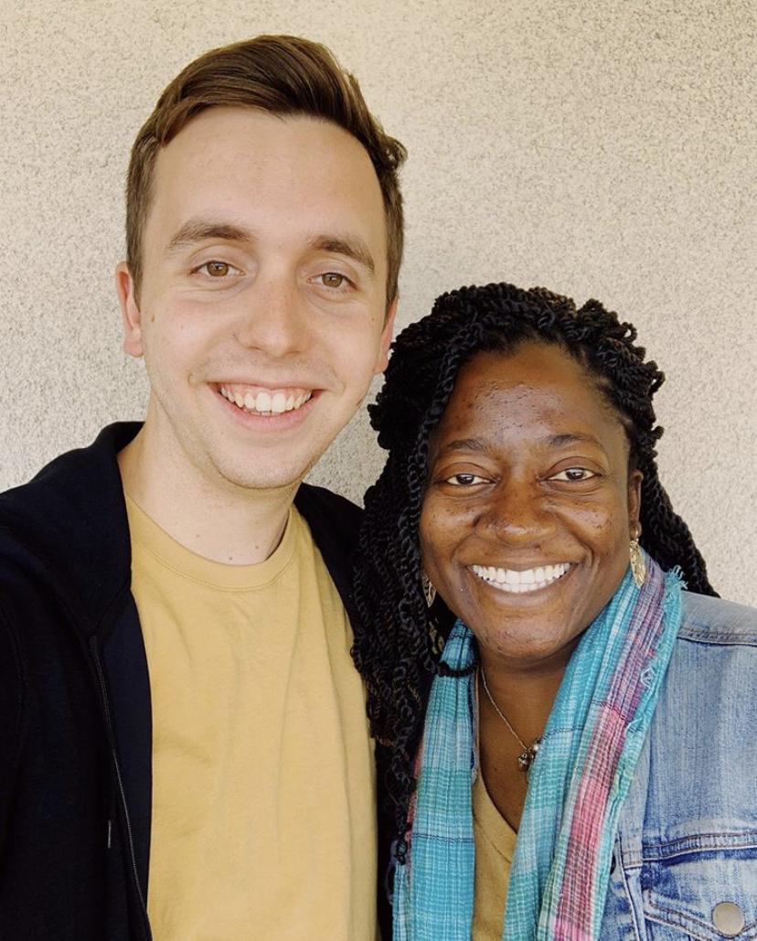 Lauren and Joey smiling post-interview